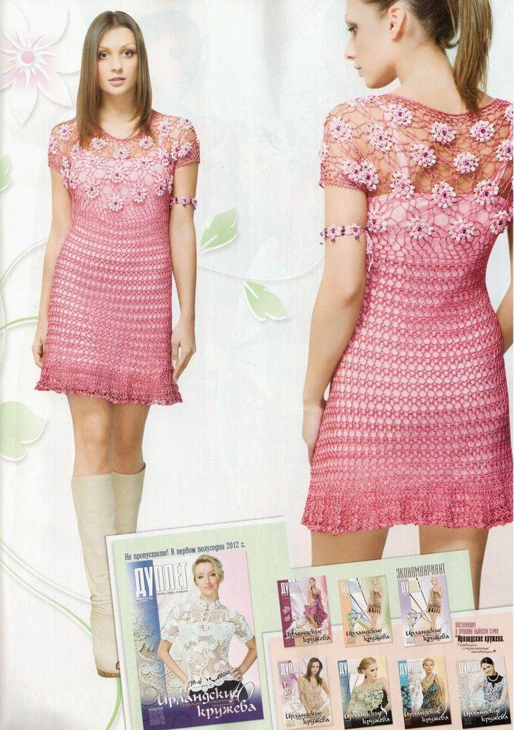 1686 best Vestidos de crochet images on Pinterest | Crochet dresses ...