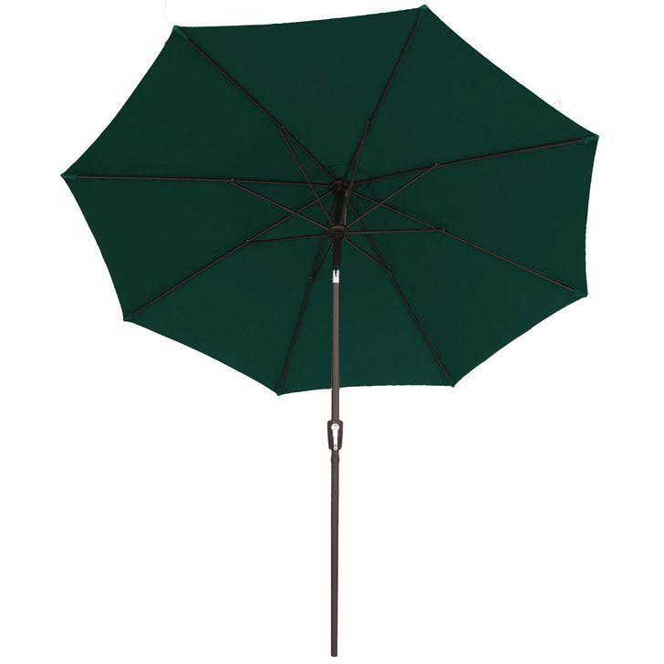 9-foot Traditional Market Sunbrella Umbrella (Green) (Polyester) #9 Sun Umb