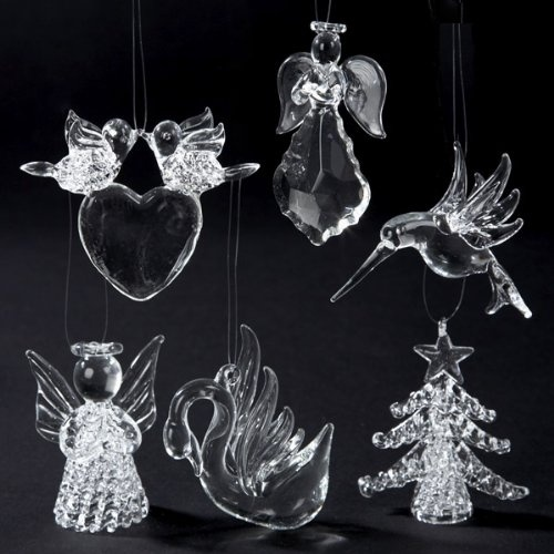 Superbe $69.99 $84.99 Club Pack Of 12 Spun Glass Angel, Bird, Heart And Tree