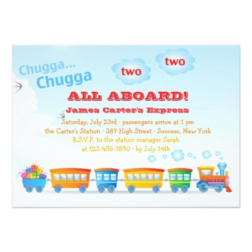 120 best Train Birthday Party Invitations images – Two Year Old Birthday Party Invitations