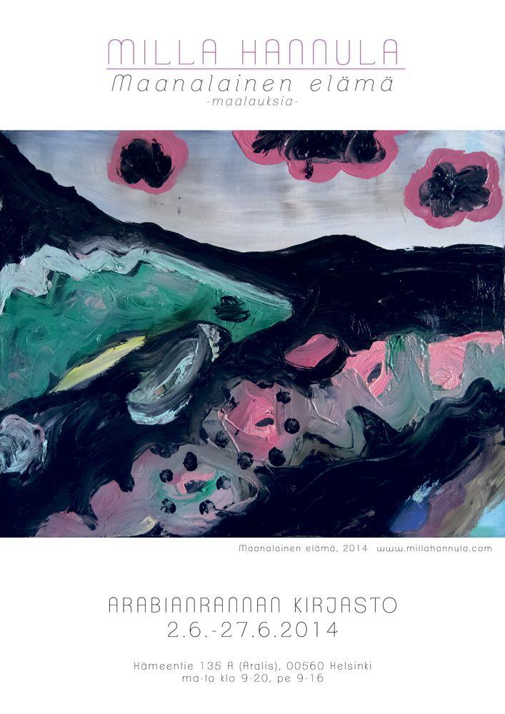 Exhibition poster, Milla Hannula www.millahannula.com