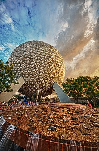 Golden Hour Spaceship Earth HDR