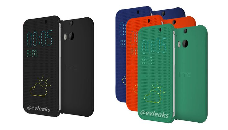 HTC One 2014 – New leaks with flip-style cases