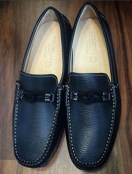 #Corneliani Blue Leather Loafers   #incrocio #shoes #footwear