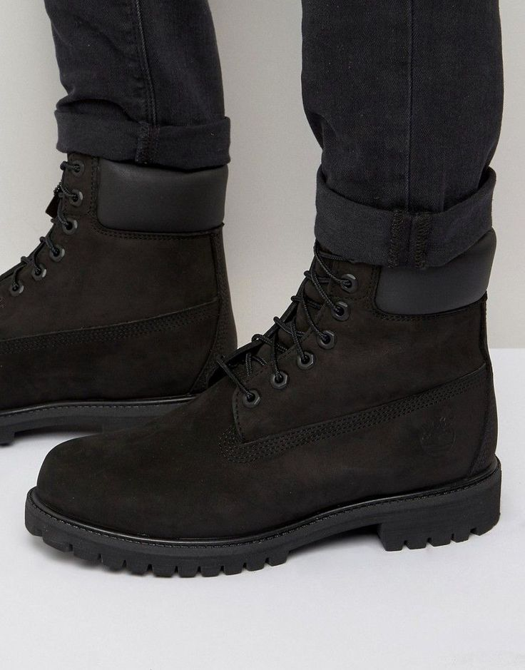 TIMBERLAND CLASSIC 6 INCH PREMIUM BOOTS - BLACK. #timberland #shoes #