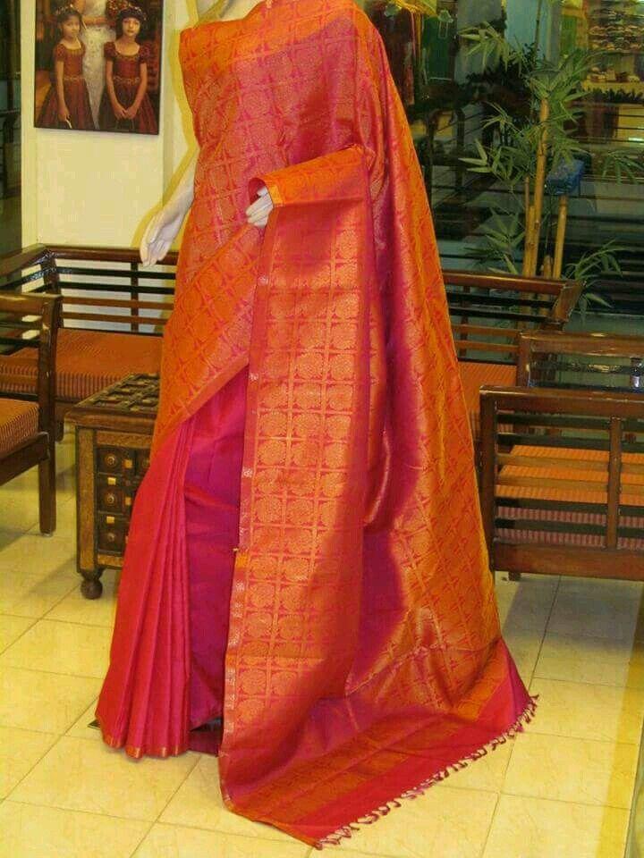 Orange saree- looking soooooo rich