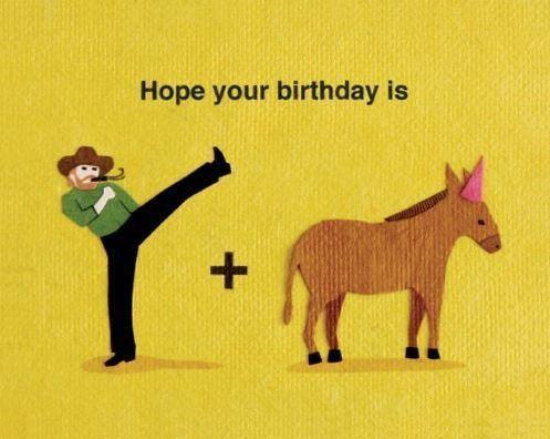 Kick Donkey Birthday Happybirthdayfunny Happybirthdaytypography Funny Happy Birthday Meme Funny Happy Birthday Wishes Happy Birthday Funny Ecards