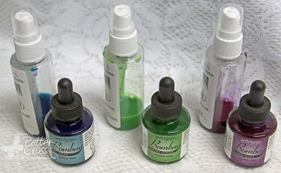 Make your own Spray Inks from India ink or Liquitex acrylic Ink