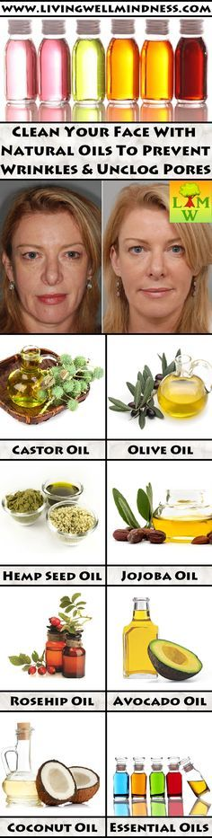 Clean your skin with natural oils