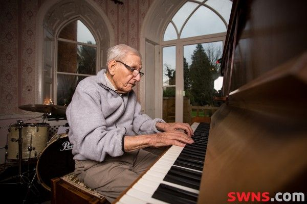 One 95-year-old man gets the band back together. Great story!