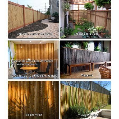 Cerco de bamb barnizado paneles para divisiones - Bambu para decorar ...