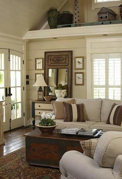 and doors. More open storage ideas for the lake house