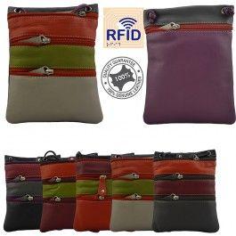 Genuine Leather Womens Cross Body Small Sling Bag Handbag Stylish RFID Protected Multi Colours 144
