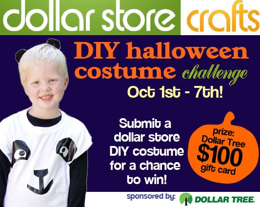 October's craft challenge at dollar store crafts -- make a dollar store costume. Winner gets 100 gift card to Dollar Tree: Costumes Facepaints, 100 Gifts, Costumes Contest, Gifts Cards, Costumes Challenges, Costume Ideas, Diy Halloween Costumes, Gift Cards, Costumes Ideas