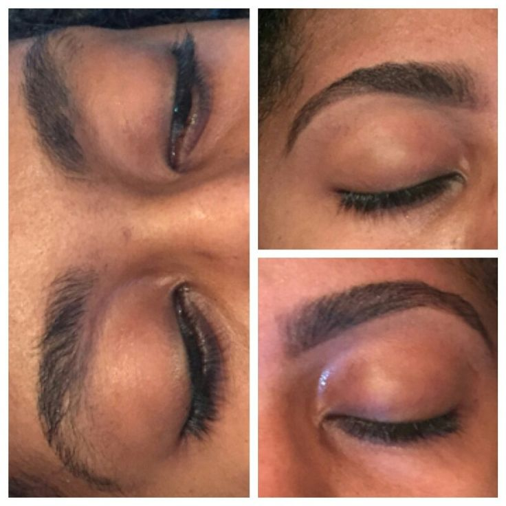Before and after. Brow art. Always thinking thick.