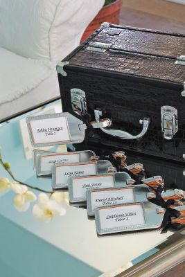 escort luggage tags....goes well with old suitcase for cards