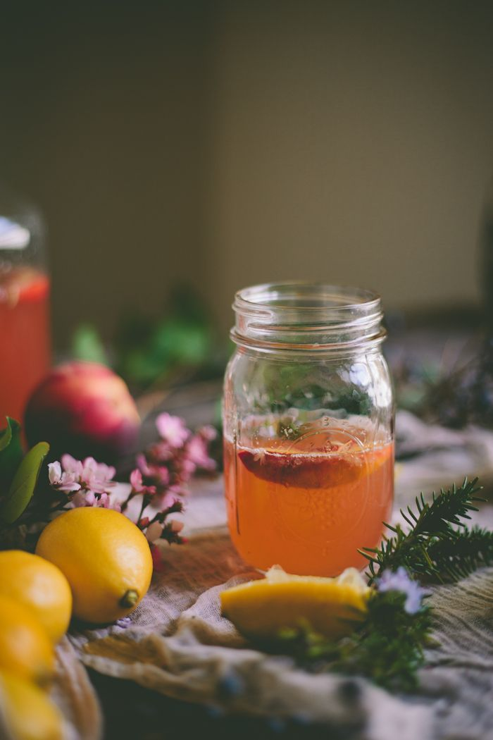 Peach & Rosemary LemonadeRosemary Lemonade, Food, Peaches Rosemary ...