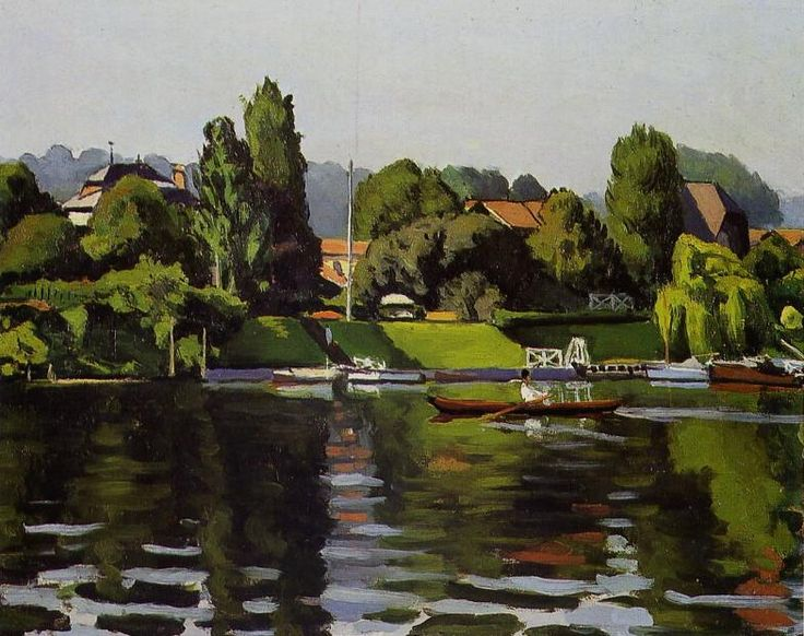 """""""Île de Migneaux, Poissy"""", Albert Marquet"""