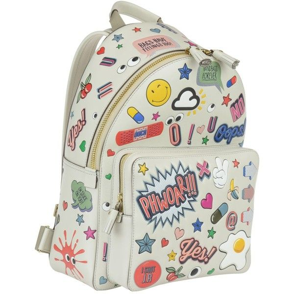 Anya Hindmarch All Over Wink Stickers Mini Backpack (22.248.005 IDR) ❤ liked on Polyvore featuring bags, backpacks, chalk multicolor, multi colored backpacks, zipper bag, multi coloured bags, knapsack bag and mini backpacks