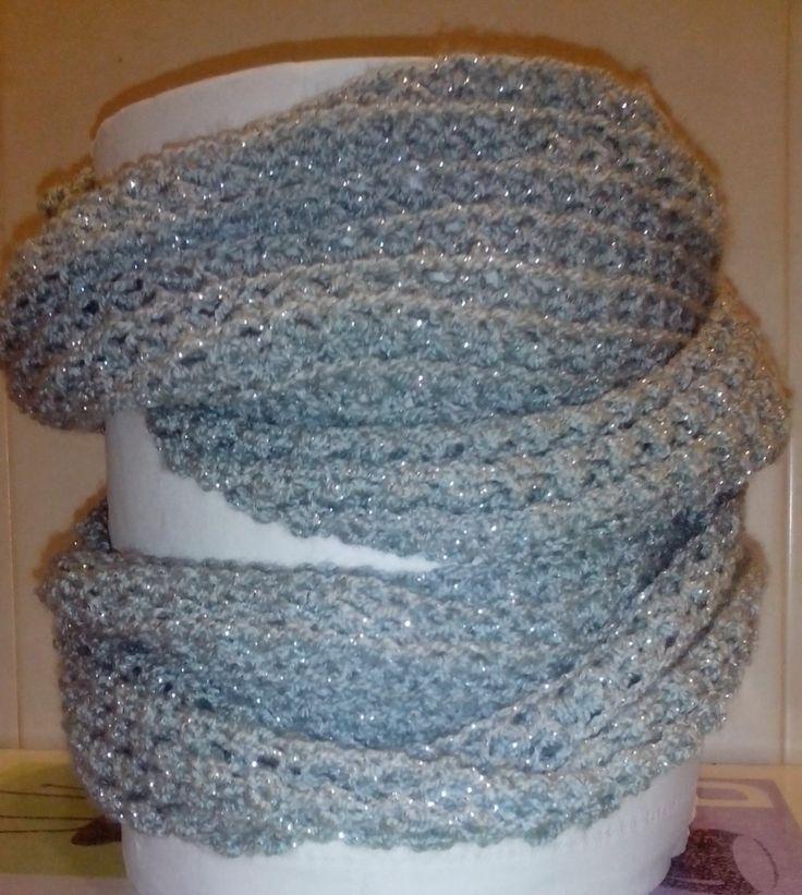 Bufanda gris brillo