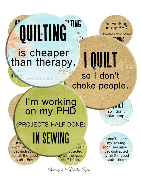New Quilting And Fabric Quotes 2 1 Inch Round Bottlecap Images