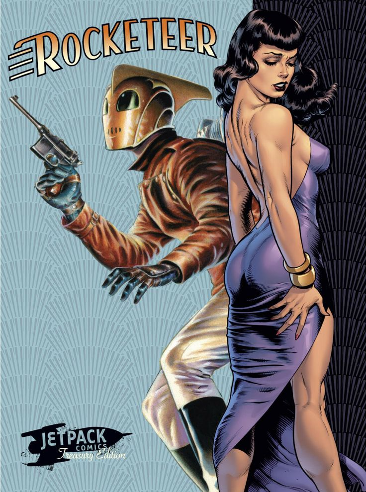Rocketeer and Bettie Page by Dave Stevens