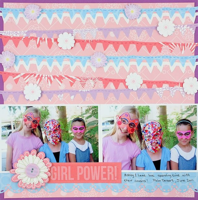 Girl Power Banner Chain #Scrapbook Layout Project Idea from Creative Memories  http://www.creativememories.com: Creative Memories, Scrapbook Ideas, Memories Scrapbook, Scrapbook Layouts, Chains Scrapbook, Banners Chains, Girls Power, Projects Ideas, Banners Border