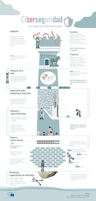 Ciberseguridad: las principales amenazas #infografia #infographic
