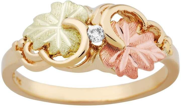 Black Hills Gold Double Swirl Leaf Ring 10k 12k Gold Black Hills Gold Jewelry Black Hills Gold Black Hills Gold Rings