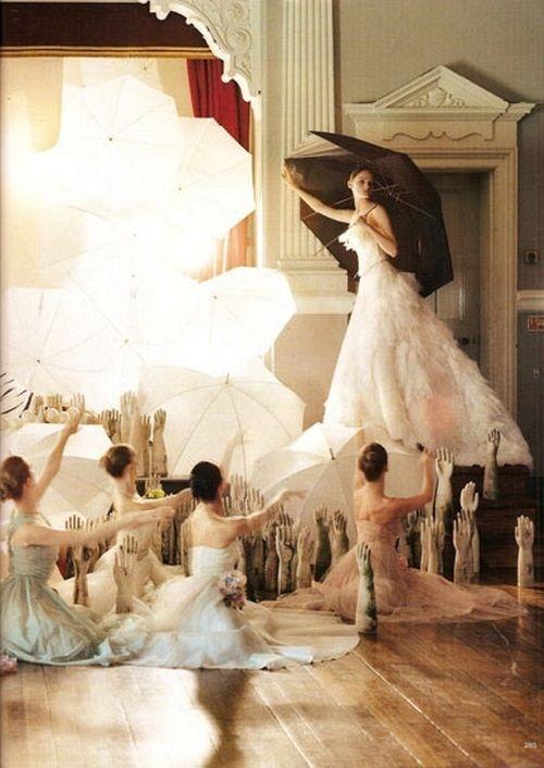 """""""Pantomime"""", Vogue UK December 2004, photographed by Tim Walker."""