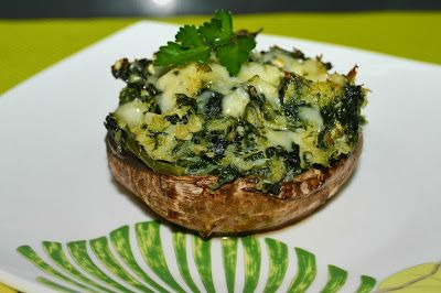 Cogumelos Portobello com Bacalhau - Bimby