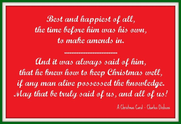 quotes from a christmas carol charles dickens | What Christmas means to me - and my Christmas 2011 Bucket List ...