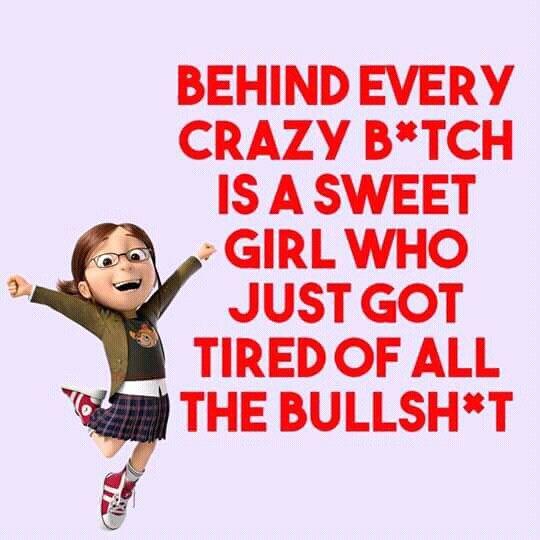 Yeah!!!! This Crathy Bitch can't take Bullshit