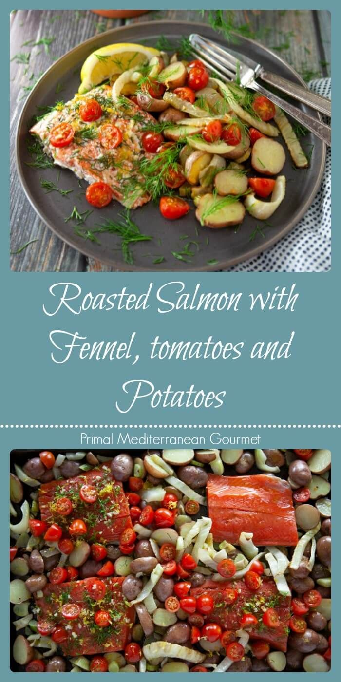 Roasted Salmon With Fennel Tomatoes And Potatoes Roasted
