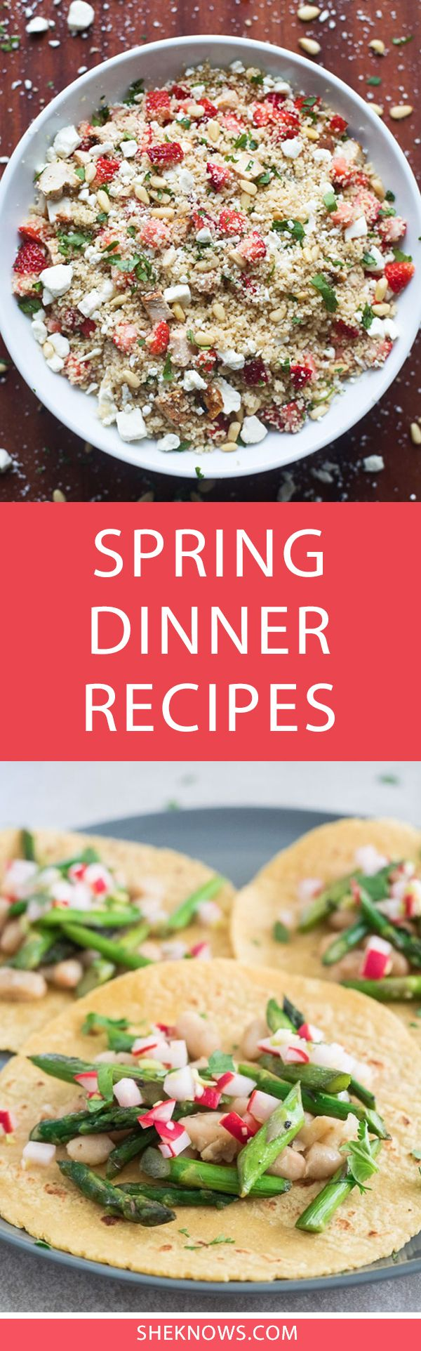 Our round up of healthy dinner ideas for spring! These recipes are perfect for vegans, vegetarians, and meat lovers alike.