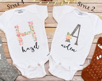 Personalized Baby Gift Personalized Shirt Baby by LittleFoxNest