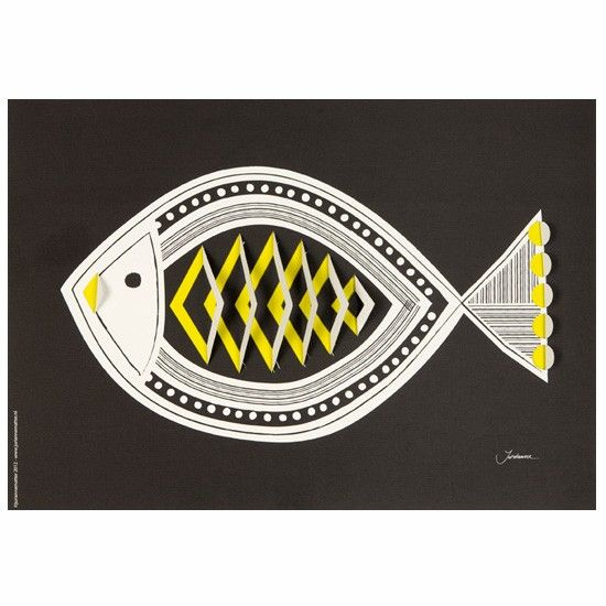 Pop up poster Fish | Jurianne Matter | koop nu bij DesignLemonade.com