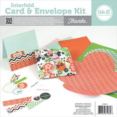 We R Interfold Card and Envelope Pads - Thanks