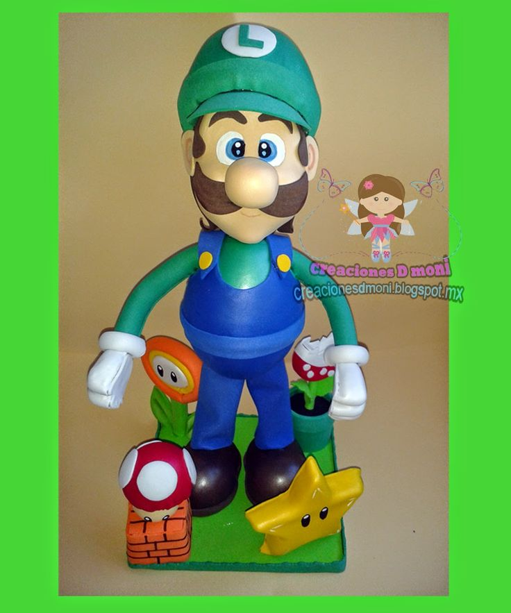 creaciones D Moni: fofucho Luigi fomi 3D