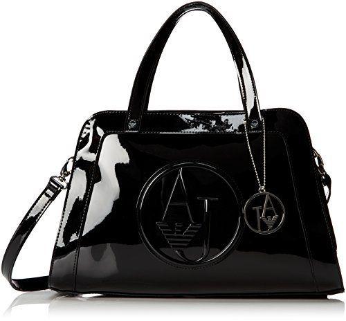 Sparkling black Armani Jeans RJ Square Bugatti Top Handle Bag   Our Daily Style