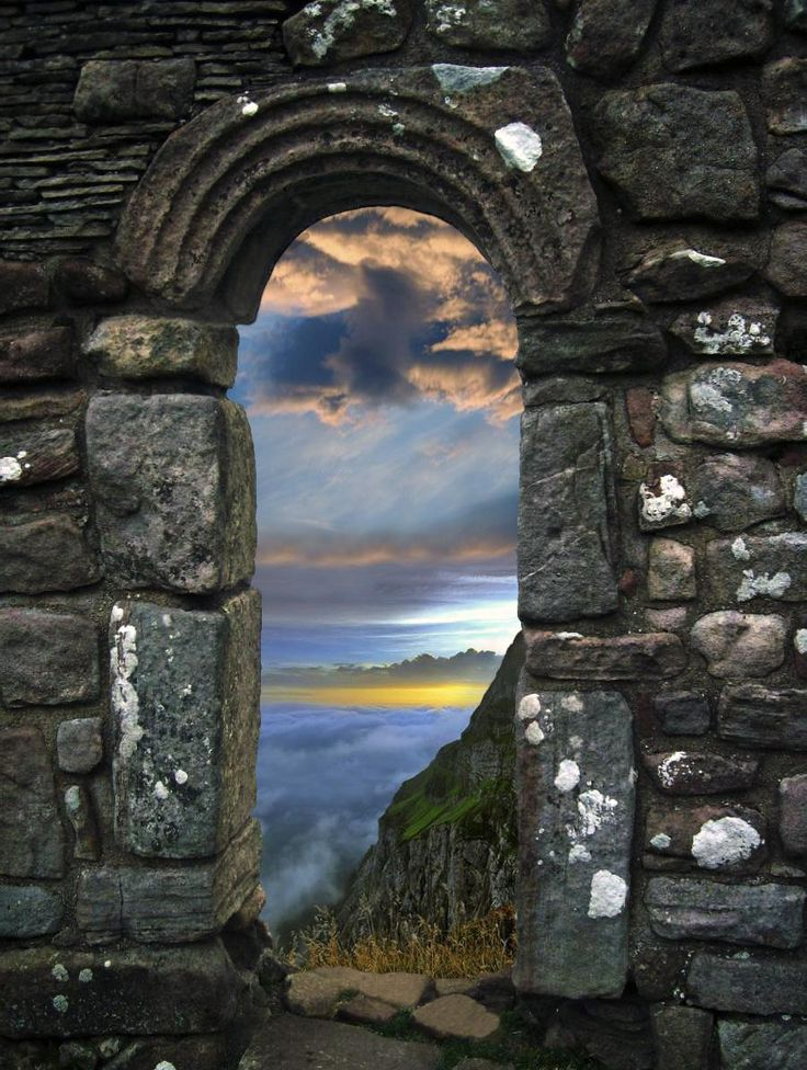 Stone Archway: Clouds, Stones Archway, Beauty Pictures, Stones Arches, Amazing Photography, Doors Gates Stairs, Color Sky, Amazing View, Ruins