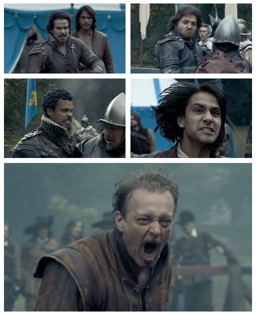 The Musketeers - 1x08 - The Challenge, Fighting faces. Go papa!Treville, show those boys how its done! <3