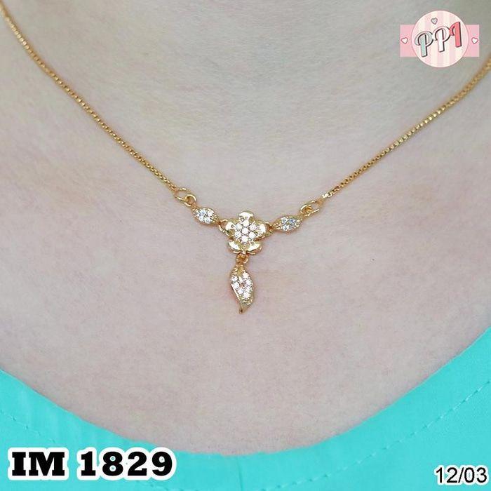 Jual Perhiasan Kalung Emas Lapis Emas 18k Permata M 1829 - Pusat Perhiasan Imitasi   Tokopedia