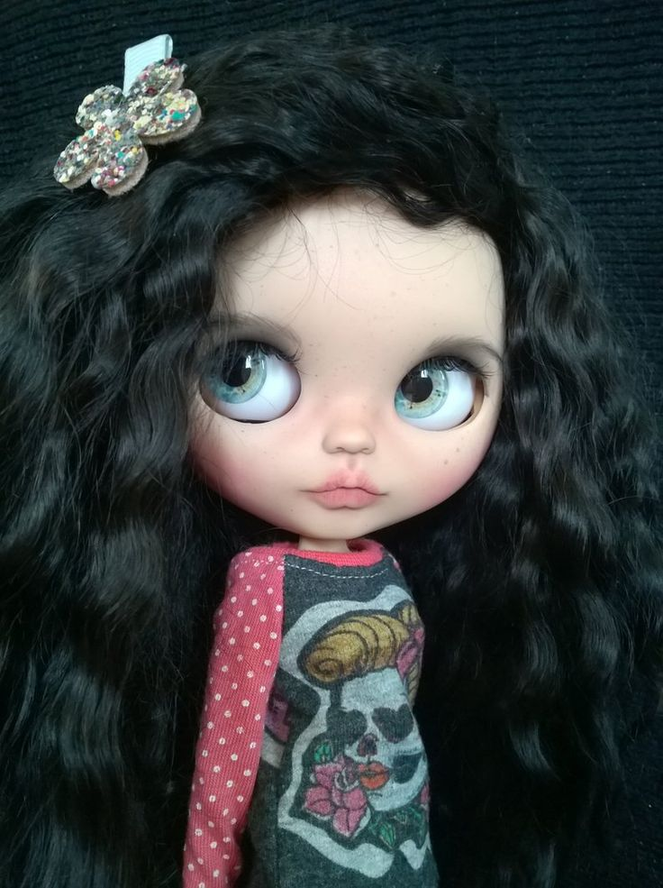 BLYTHE doll Custom /OOAK Weft reroot / Mohair