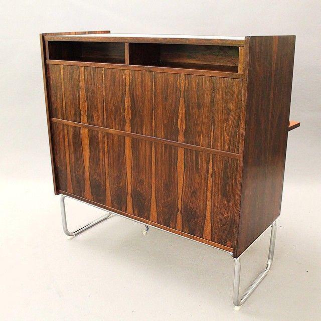 For Sale 1970s Rosewood Bar. #moderndesign #moderninteriors #midcenturymodern