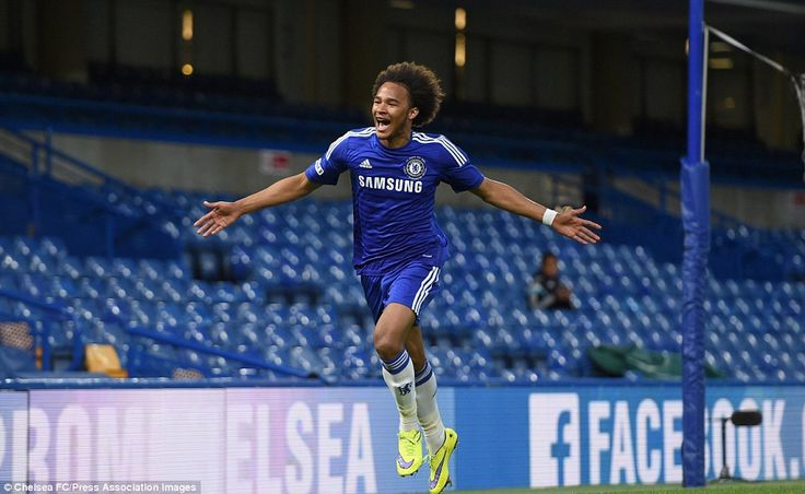 Izzy Brown wheels away after scoring for Chelsea in the FA Youth Cup Final