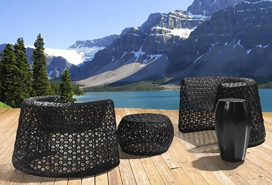 trendy outdoor furniture from woven synthetic 1