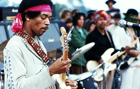 Hendrix's performance of The Star Spangled Banner at Woodstock. (the version I hear in my head today)