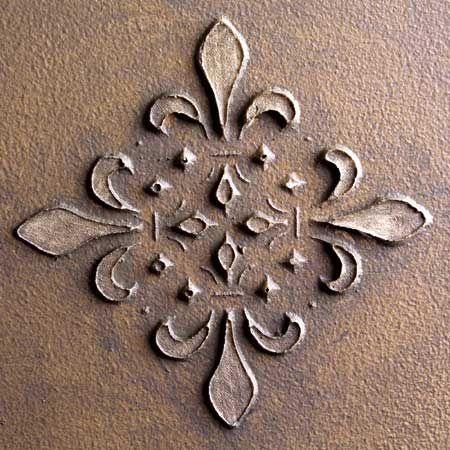 STM0001 Fleur French Tile Embossed Sculpture Stencils by stencilease, via Flickr