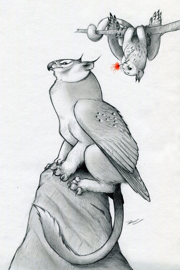 Owl Griffin Valentine by RobtheDoodler.deviantart.com on @deviantART